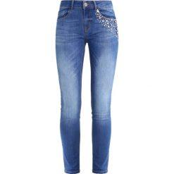 Mos Mosh Jeansy Slim fit blue. Niebieskie rurki damskie Mos Mosh. W wyprzedaży za 359,40 zł.