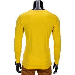 T-shirty męskie: LONGSLEEVE MĘSKI L63 – ŻÓŁTY