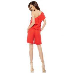 Modny kombinezon na lato czerwony EVERLY. Czerwone kombinezony damskie na lato marki KALENJI, z elastanu, z krótkim rękawem, krótkie. Za 169,90 zł.