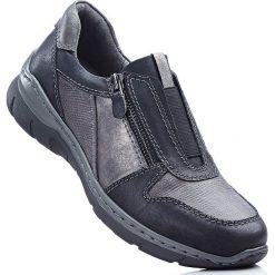 Buty wsuwane bonprix ciemnoszary. Szare buty sportowe damskie marki bonprix, z materiału. Za 139,99 zł.