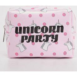 Kosmetyczki damskie: Kosmetyczka unicorn - Różowy