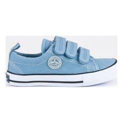 Buty dziecięce: Sportowe trampki na rzep  AMERICAN CLUB niebieskie