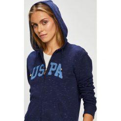 U.S. Polo - Bluza. Czarne bluzy z kapturem damskie U.S. Polo, l, z nadrukiem, z bawełny. W wyprzedaży za 269,90 zł.