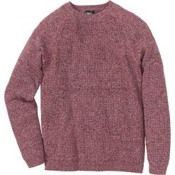 Swetry męskie: Sweter w prążek Regular Fit bonprix ciemnoczerwony melanż