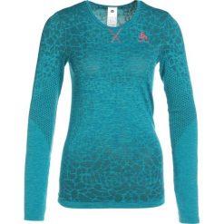 ODLO CREW NECK BLACKCOMB      Koszulka sportowa crystal teal/pool green. Niebieskie t-shirty damskie Odlo, xl, z materiału, z długim rękawem. Za 249,00 zł.