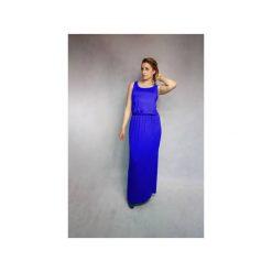 Sukienki: SUKIENKA RARITY | LETNIA MAXI KOBALTOWA