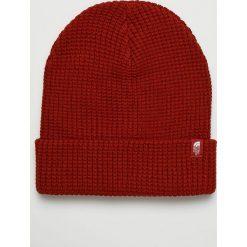 The North Face - Czapka. Czerwone czapki zimowe damskie marki The North Face, na zimę, z dzianiny. Za 99,90 zł.