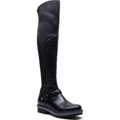 Muszkieterki EVA MINGE - Jativa 4E 18SM1372487EF 101. Czarne buty zimowe damskie Eva Minge, z materiału. W wyprzedaży za 499,00 zł.