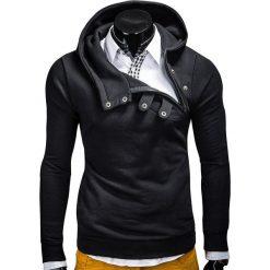BLUZA MĘSKA Z KAPTUREM PACO - CZARNA. Czarne bluzy męskie rozpinane marki Ombre Clothing, m, z bawełny, z kapturem. Za 69,00 zł.