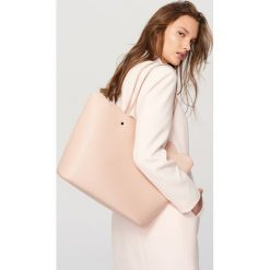 Shopper bag damskie: Torebka typu shopper – Różowy