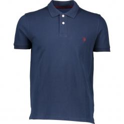 Koszulka polo w kolorze granatowym. Niebieskie koszulki polo marki U.S. Polo Assn., m, z haftami, z bawełny. W wyprzedaży za 121,95 zł.