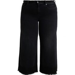 Ashley Graham x Marina Rinaldi IGLOO TWO TONED CULOTTES Jeansy Dzwony nero. Czarne jeansy damskie Ashley Graham x Marina Rinaldi. Za 849,00 zł.