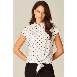 Bielizna damska: Koszula z krótkim rękawem - Biały