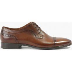 Półbuty brązowe Tito. Czarne buty wizytowe męskie marki Badura, z materiału, na sznurówki. Za 249,99 zł.