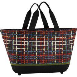 Shopper bag damskie: Torba z kolorowym wzorem na zakupy – 48 x 28 x 33 cm
