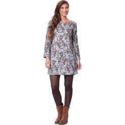 Długie sukienki: Sukienka w kolorze biało-niebieskim ze wzorem