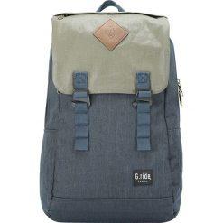 Plecaki męskie: Plecak w kolorze granatowo-oliwkowym – 35 x 49 x 15 cm