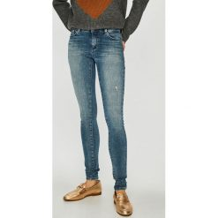 Only - Jeansy Carmen. Szare jeansy damskie rurki marki ONLY, s, z bawełny, casualowe, z okrągłym kołnierzem. Za 259,90 zł.