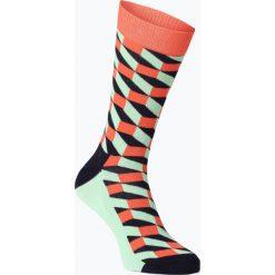 Happy Socks - Skarpety męskie, zielony. Zielone skarpetki męskie Happy Socks, w kolorowe wzory, z bawełny. Za 29,95 zł.