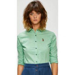 U.S. Polo - Koszula. Szare koszule damskie w kratkę U.S. Polo, s, z bawełny, casualowe, z klasycznym kołnierzykiem, z krótkim rękawem. W wyprzedaży za 299,90 zł.