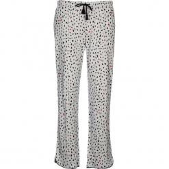 Spodnie piżamowe w kolorze jasnoszarym. Białe piżamy damskie marki LASCANA, w koronkowe wzory, z koronki. W wyprzedaży za 58,95 zł.