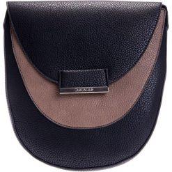 Listonoszki damskie: Czarno-brązowa torebka listonoszka QUIOSQUE
