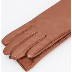 Skórzane rękawiczki - Bordowy. Czerwone rękawiczki damskie Reserved. Za 99,99 zł.