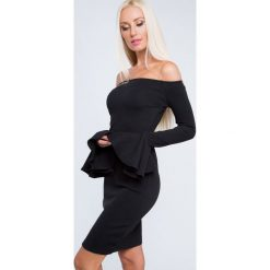 Sukienka z rozkloszowanymi rękawami czarna 1560. Czarne sukienki Fasardi, m, rozkloszowane. Za 62,30 zł.