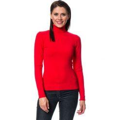 Golfy damskie: Sweter w kolorze czerwonym