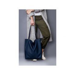 Torba basic granat. Niebieskie shopper bag damskie drops, w paski, z bawełny. Za 104,00 zł.