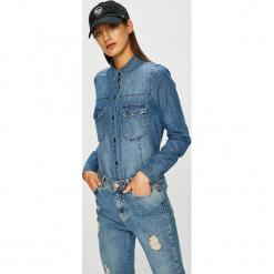 Noisy May - Koszula Kara. Niebieskie koszule jeansowe damskie Noisy May, l, casualowe, z dekoltem karo, z długim rękawem. Za 169,90 zł.