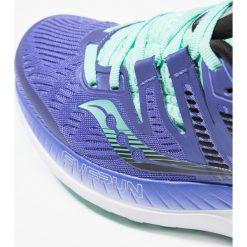 Saucony RIDE ISO Obuwie do biegania treningowe violet/black/aqua. Fioletowe buty do biegania damskie Saucony, z gumy. Za 589,00 zł.