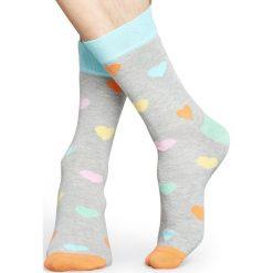 Happy Socks - Skarpety Heart. Szare skarpetki męskie Happy Socks, z bawełny. W wyprzedaży za 27,90 zł.