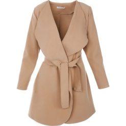 Płaszcze damskie pastelowe: Płaszcz materiałowy - 71-22245 BEIG