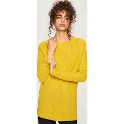 Długi sweter - Zielony. Brązowe swetry klasyczne damskie marki DOMYOS, xs, z bawełny. Za 69,99 zł.