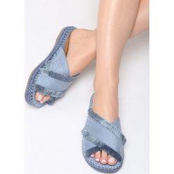 Chodaki damskie: Niebieskie Klapki Copper