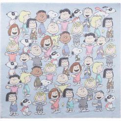 """Chusty damskie: Chusta """"Peanuts"""" w kolorze błękitnym – 110 x 110 cm"""