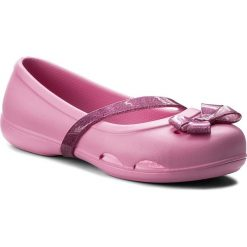 Baleriny damskie lakierowane: Baleriny CROCS – Lina Flat K 204028 Party Pink