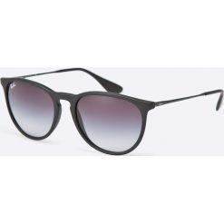 Ray-Ban - Okulary Erika. Szare okulary przeciwsłoneczne męskie aviatory Ray-Ban, z materiału. Za 479,90 zł.