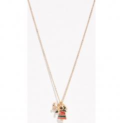 Naszyjnik z świątecznymi zawieszkami - Beżowy. Brązowe naszyjniki damskie marki Sinsay. Za 12,99 zł.