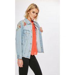 Answear - Kurtka Wiya for Answear. Szare kurtki damskie jeansowe ANSWEAR, l, z haftami. W wyprzedaży za 169,90 zł.