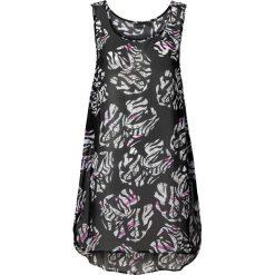 Sukienka plażowa bonprix czarno-biały. Białe sukienki marki bonprix, na plażę, w koronkowe wzory. Za 54,99 zł.