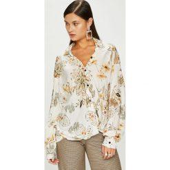 Answear - Koszula. Szare koszule wiązane damskie ANSWEAR, s, z tkaniny, casualowe, z długim rękawem. W wyprzedaży za 119,90 zł.