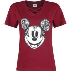 Myszka Miki i Minnie Ornamente Koszulka damska bordowy. Czerwone bluzki asymetryczne Myszka Miki i Minnie, l, z motywem z bajki. Za 99,90 zł.