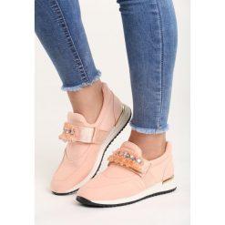 Różowe Buty Sportowe Loud Silence. Pomarańczowe buty sportowe damskie marki Born2be, z materiału. Za 69,99 zł.