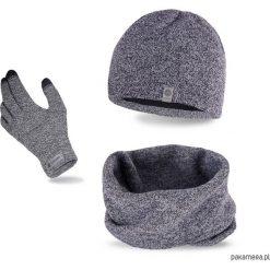 Zestaw zimowy czapka + komin + rękawiczki. Czarne czapki męskie marki KIPSTA, m, z elastanu, z długim rękawem, na fitness i siłownię. Za 72,00 zł.