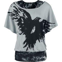 Black Premium by EMP When The Heart Rules The Mind Koszulka damska szary/czarny. Czarne bluzki z odkrytymi ramionami marki Black Premium by EMP, xl, z poliesteru. Za 144,90 zł.