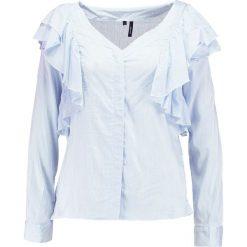 Koszule wiązane damskie: Vero Moda VMERIKA FLOUNCE Koszula snow white/chambray blue small stri