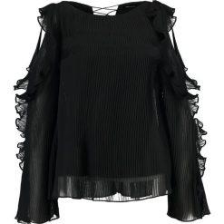 Bluzki asymetryczne: Karen Millen RUFFLE SLEEVE Bluzka black