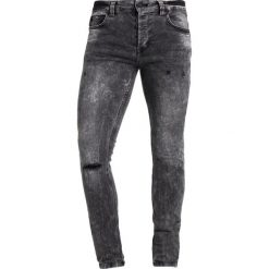 Only & Sons ONSWARP CAMP ACID Jeans Skinny Fit black denim. Brązowe jeansy męskie marki Only & Sons, l, z poliesteru. Za 169,00 zł.